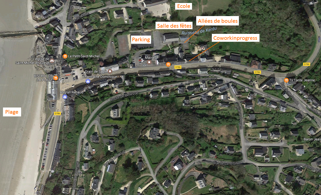 Carte des équipements public de Saint Michel en Grève